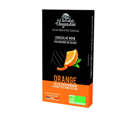 TABLETTE-DE-CHOCOLAT-NOIR-70-%-DE-CACAO-AUX-ÉCORCES-D'ORANGE-CONFITES---100-G